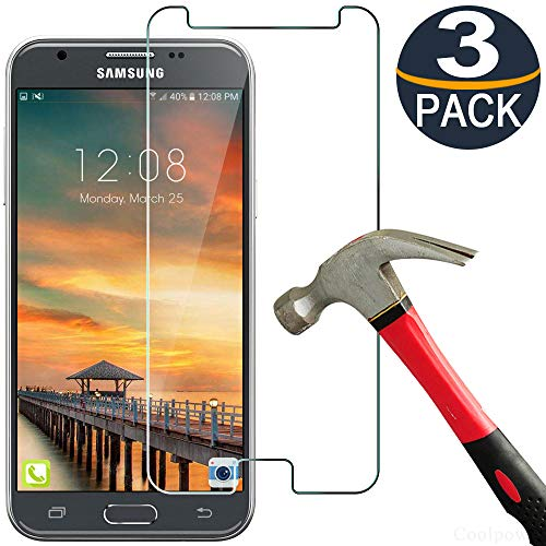 [3 Pack] Samsung J3 Screen Protector for Galaxy J3 2017 / J3 Luna Pro / J3 Eclipse / J3 Emerge / J3 Prime Tempered Glass [Anti Scratch][9H Hardness] [Ultra Clear][Bubble Free] Lifetime Replacement