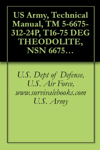 US Army, Technical Manual, TM 5-6675-312-24P, T16-75 DEG THEODOLITE, NSN 6675-01-075-3, AND, T-16-84 MIL THEODOLITE, (6675-01-191-4777) (English Edition)