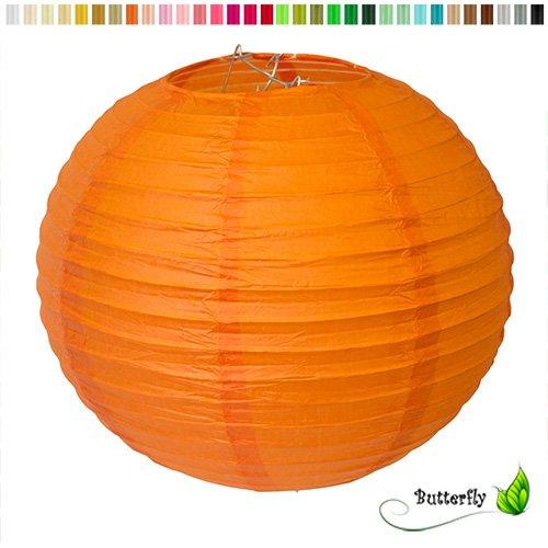 Creativery Papier Lampion 25cm (orange 668) // Laterne Hochzeit Party Wohnungsdeko Hängedeko Raumdeko Geburtstag Party Feier