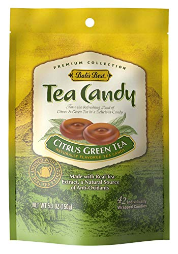 Bali's Best Citrus Green Tea Candy, 5.3-Ounce Bags (Pack of 12)