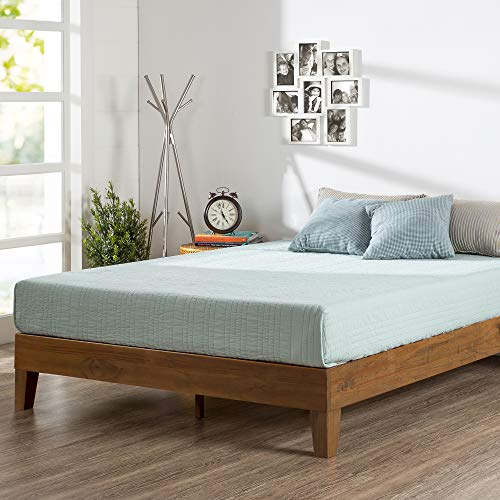 ZINUS Alexis Deluxe Wood Platform Bed Frame / Solid Wood Foundation / No Box Spring Needed / Wood Slat Support / Easy Assembly, Rustic Pine, Twin