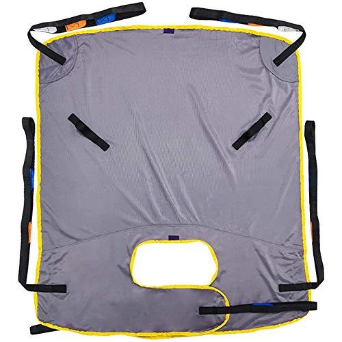 Z-SEAT Gepolsterter U-Sling-Ganzkörper-Patientenlift-Sling mit Mesh, medizinische Liftausrüstung mit Kommodenausschnitt, Vierpunkt-Stütztransfer-Sling für ältere und Behind