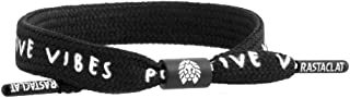 Positive Vibes Shoelace Bracelet Black White