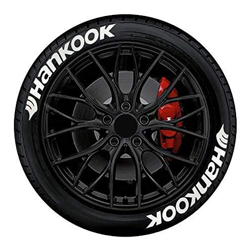 Auto Brief Aufkleber Auto Reifen Aufkleber, Tire Style 8 x Reifenaufkleber, Hankook mit Logo, dekorative Aufkleber Motorrad Fahrrad Rad Dekoration