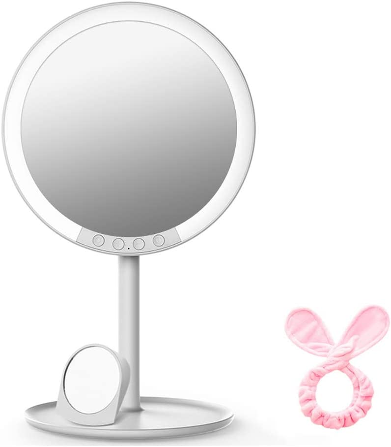 WANGXIAOLINjingzi Magnifying Mirror with Year-end annual account 7X Light Vanity Mesa Mall