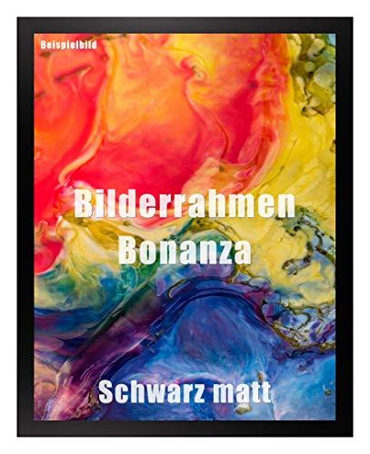 Homedecoration Bilderrahmen Bonanza Bildgröße 75 x 98 cm in Schwarz Matt mit Acrylglas klar 1 mm in 52 Farben