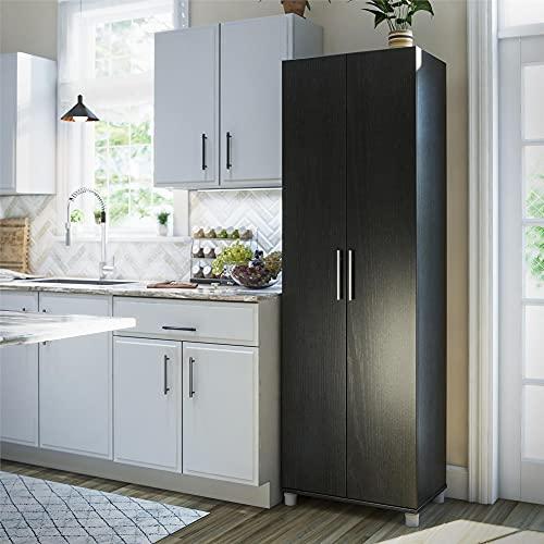 System Build Camberly 24  Utility Storage Cabinet, Black Oak