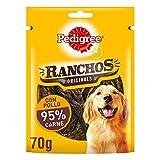 Pedigree Ranchos Snack para Perro, Sabor Carne (Pack de 7 x 70g)