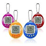 4 Pieces Virtual Electronic Digital Pet Keychain Game Digital Game Keychain...