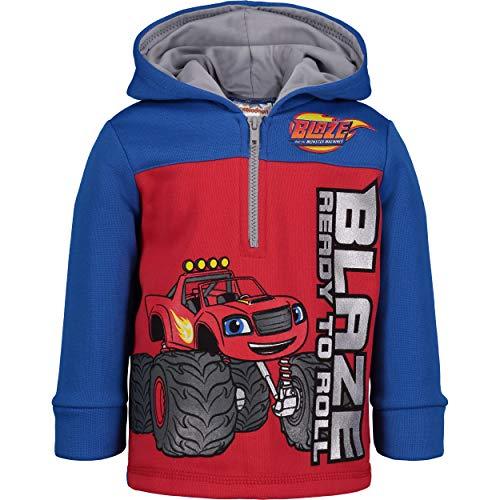 Blaze and The Monster Machines Boys' Fleece Hoodie Pullover Sweatshirt w Zipper (Red, 6)