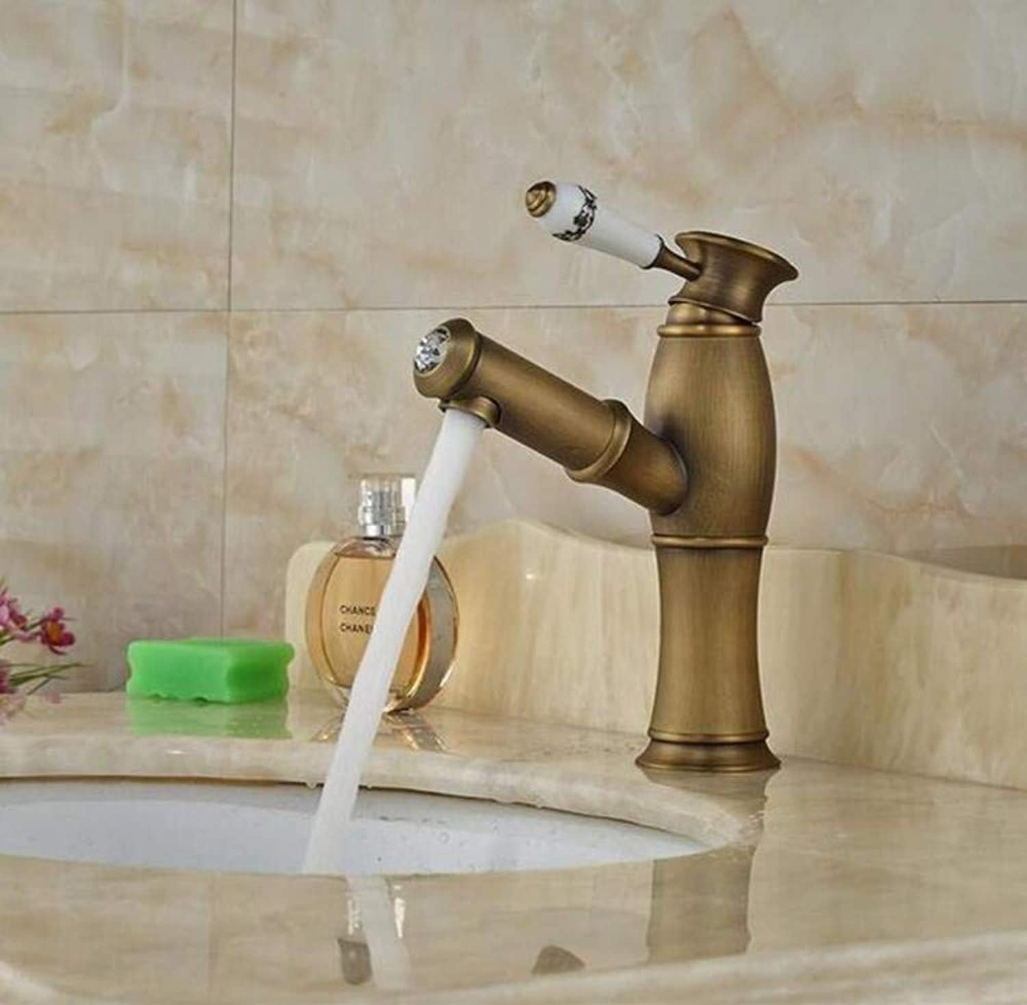 Brass Wall Faucet Chrome Brass Faucetwashing Hair Mixer Taps Single Ceramic Handle Cold and Hot Water Tap