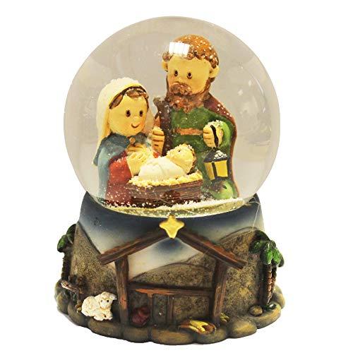 Santa's Workshop Christmas Nativity Scene Mini 65mm Snow Globe Waterball XM7534