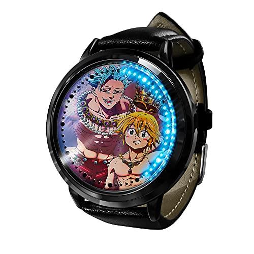The Seven Deadly Sins Watch Dragon'S Sin of Wrath Meliodas Clock LED Touch Screen Waterproof Digital Light Clock Wristwatch Unisex Cosplay Gift wristwatches Best Gift for Children