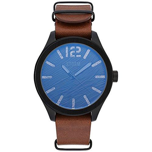 Storm London Oxley Slate Leather 47393/SL/BR Reloj de Pulsera para Hombres