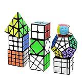 lunaoo Speed Cube Set Magic Cube 9 Piezas 2x2 3x3 4x4 Pyraminx...