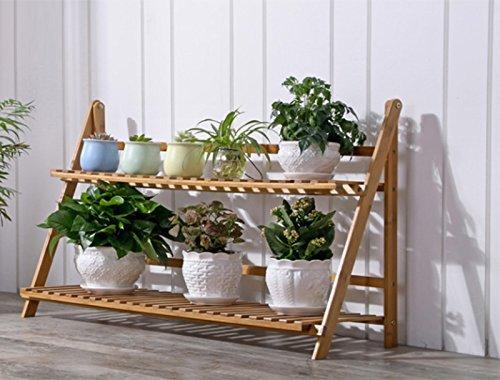 ILQ Étagère Pliante Multicouche de Pots de Plante,100 * 27 * 53 cm