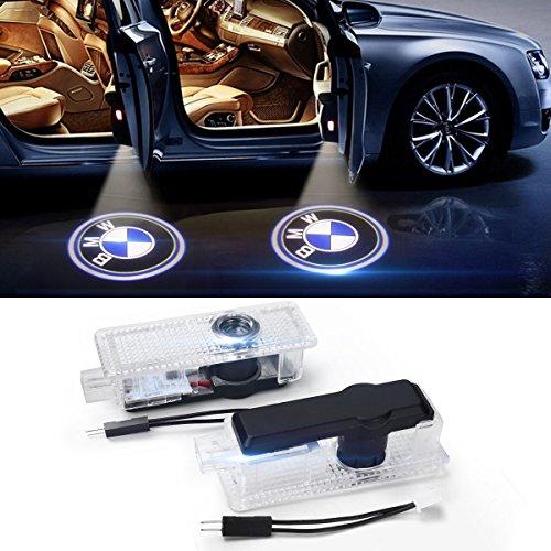 Suyisy 2 x LED Autotür Willkommen Licht Einstiegsbeleuchtung Projektor licht mit LOGO für E90 E60 E63 F12 F13 F10 F07 M5 Z4 ect.