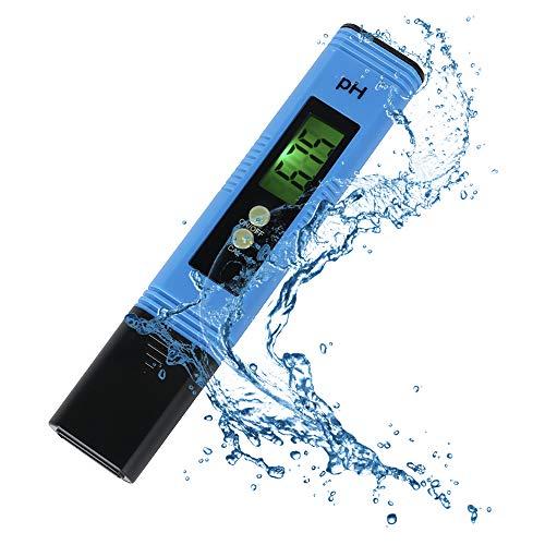 Digital PH Mètre, Louisayork Test de qualité de l'eau au mètre, grand écran LCD avec lumière noire, 0,01 Résolution Format de poche pour l'eau Aquarium piscine jacuzzi hydroponie Vin