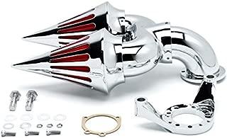 Krator Chrome Dual Spike Intake Air Cleaner Filter Kit For Harley-Davidson Dyna Custom Applications