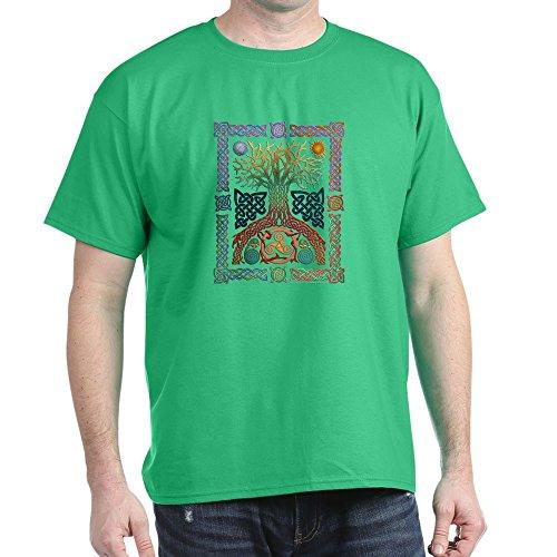 CafePress Celtic Tree of Life Dark T Shirt 100% Cotton T-Shirt Kelly Green