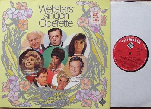 WELTSTARS SINGEN OPERETTE II / zweite große Sonderauflage zum goldenen Operettenprogramm / 1972 / Klapp-Bildhülle / TELEFUNKEN # S 14672-P / Deutsche Pressung / 12