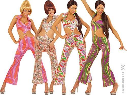 70s Koorts Jumpsuit 4Cols Kostuum Klein voor jaren 1970 Disco Hippy Hippie Fancy Jurk