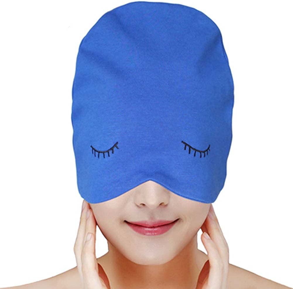 Cotton Nightcaps Skullies & Beanies Sleeping Hats for Unisex Adult/Children, 07 Blue