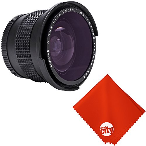 Opteka 0.35X Professional Super Wide Angle Fisheye Lens with Macro Close Up for Canon Vixia HF G40, G20, XF205, XF200, XF105, XF100, XA35, XA30, XA25, XA10, XC10, GL2 and GL1 Digital Camcorders