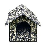 Stronrive Caseta para Gato/Perros Exterior, Caseta Impermeable para Perros, Casa...