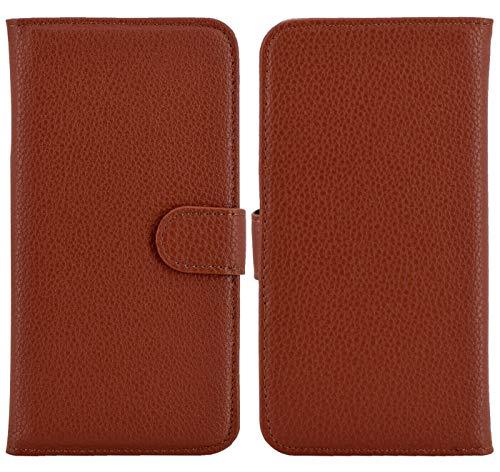 Suncase Favory - Shop Book Style Handy Tasche kompatibel mit Emporia Smart 3 Mini Hülle Etui Schutzcover Kappe Wallet Hülle in Braun