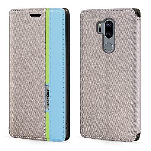 Funda para LG G7 ThinQ, con cierre magnético de piel, con tarjetero para LG G7+ (6,1 pulgadas)