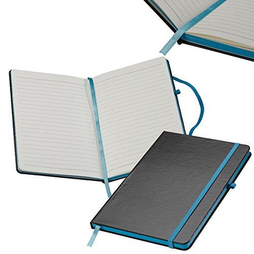 Notizbuch / DIN A5 / 160 S. / liniert / PU Hardcover / Farbe: türkis