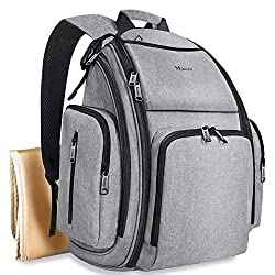 commercial Diaper backpack, big multifunctional waterproof travel bag for dad and mom … diaper bag backpack