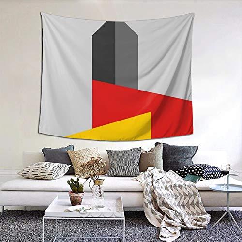 Ameok-Design Wandteppich mit Bauhaus-Turm-Motiv, perfekte Dekoration für Schlafzimmer, Wohnzimmer, Wohnheim, 152,4 x 127,7 cm