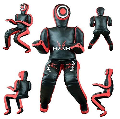 HMH Sports MMA - Chupete de piel sintética sin relleno, posición sentada brasileña Jiu jitsu lanzamiento, entrenamiento de lucha libre (4)