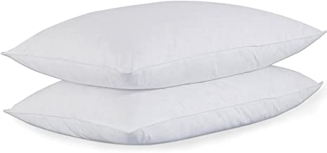 puredown® King Size Soft Down Feather Bed Pillows Sleeping Washable-King Size-2 packs-100% Cotton Cover