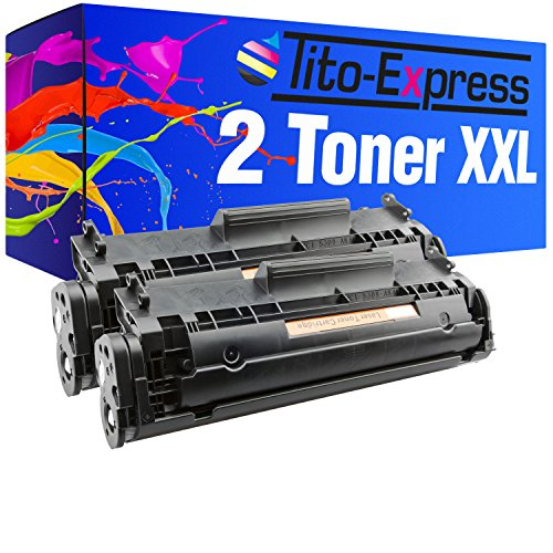 Tito-Express PlatinumSerie 2 Toner XXL kompatibel mit HP Q2612A 12A Laserjet 1010 1012 1015 1018 1020 1022-N 1022-NW 1028 3015-AIO 3020-AIO 3030-AIO 3050-Z 3052 3055 M1005-MFP M1319 M1319F