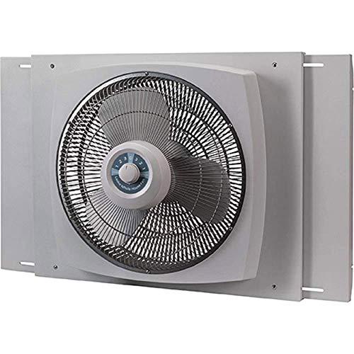 "Lasko 16"" Electrically Reversible Window Fan with Storm Guard, 16 INCH, White"