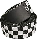 Urban Classics Adjustable Checker Belt Cinturón, blanco/negro, Talla única Unisex Adulto
