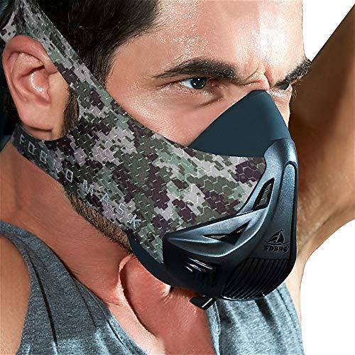 FDBRO Trainingsmaske Workout Maske- - High-Altitude-Endurance-Maske erhöht die Kraft, Laufwiderstand Atemmaske mit Tragetasche (Der Wald, S)