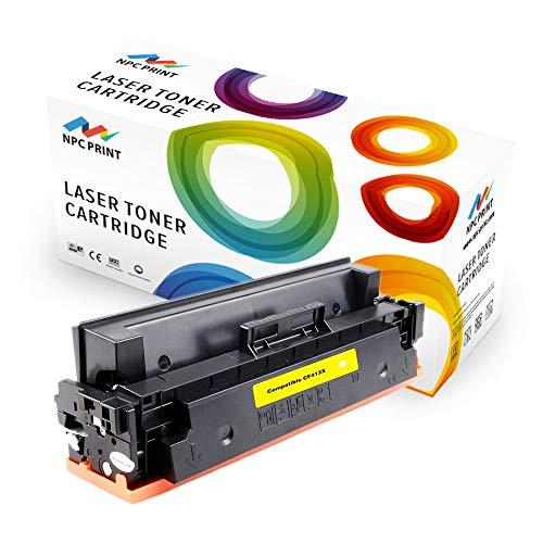 NPC PRINT TONER ersetzt HP CF412X CF412A kompatibel für HP LaserJet Pro MFP M477fdw M477fdn M377dw M477fnw M452dn M452nw   5.000 Seiten   Gelb   hohe Reichweite