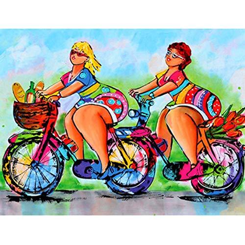 YHZSML DIY 5D Diamante Pintura Kits,Mujer Gorda Colorida 30x40cm,Bordado Manualidades Punto de Cruz for Home Wall Decor