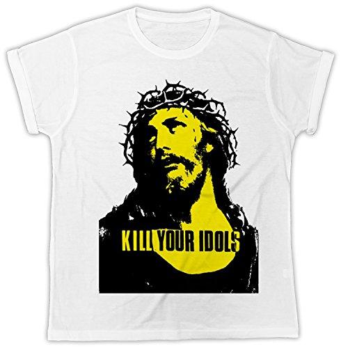 Uk print king Kill Your Idols Poster Divertida, Fresca, Regalo, Diseñada, Camiseta Unisex
