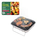 GardenKraft 19760 <span class='highlight'>Disposable</span> <span class='highlight'>BBQ</span> with Stand / 60 Minute Burning Time / Ideal for Parties, Picnics, Festivals & Camping / 31cm x 24cm