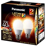 パナソニック LED電球 口金直径26mm プレミアX 電球40形相当 電球色相当(4.9W) 一般電球 全方向タイプ 2個入り 密閉器具対応 LDA5LDGSZ42TAN