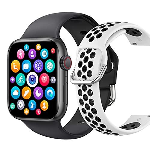 ZGLXZ Reloj Inteligente, Reloj De Fitness con Seguimiento De Salud Femenino, Monitor De Ritmo Cardíaco, Mensaje, Smartwatch De Deportes Al Aire Libre Impermeable para Teléfonos iOS De Android,G