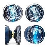 DZX YOYO YOYO Colorido yoyo Metal yoyo para Jugador Profesional de yoyo Juguetes clásicos (Color: Azul), Yoyo receptivo