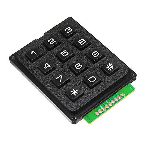 MING-MCZ Duradero 12 Key MCU Membrana conmutador del Teclado 4 x 3 Matrix Matriz módulo de Teclado de Matriz for 5pcs Fácil de Montar
