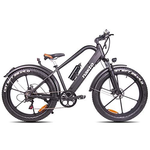 """H&J Mountain Bike elettrica e 26\""""Bicicletta Ibrida 48 V 6 ammortizzatori Idraulici e Freni a Disco Anteriori e Posteriori per Una Durata Fino a 70 km (Larghezza Pneumatici 4\"""")"""