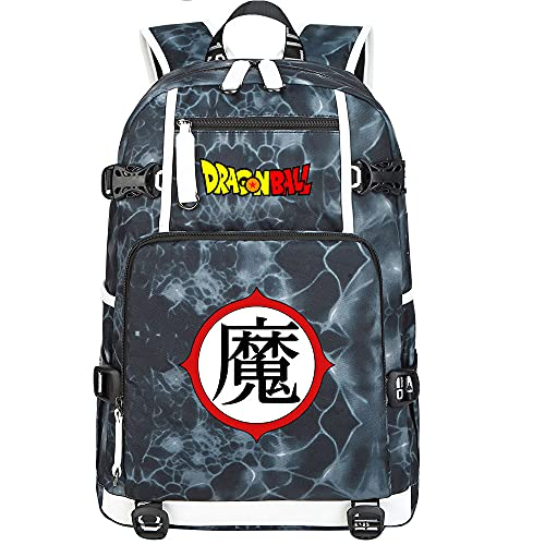 ZZGOO-LL Dragon Ball Mochilas de Anime Mochila Escolar para Estudiantes Mochila para portátil con Puerto de Carga USB-G